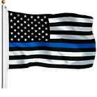 Thin Blue Line American Flag 3x5 ft US Black  White Police Policemen Support