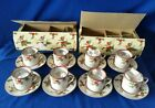 8-Vtg Fitz and Floyd Christmas Holly Demitasse Cup and Saucer Sets☆MINT/NIB☆EXC