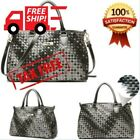 HOT Nnee Medium Hand Woven Leather Tote Bag Satchel With Multiple Pocket Design