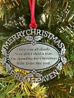 Merry Christmas From Heaven Ornament Loved One Memorial Tree Decoration