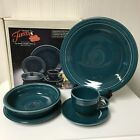 1st Qual Retired Fiesta Juniper Green 5 Piece Place Setting Fiestaware