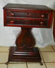 Rosewood One Board Top Sewing Cabinet / Nightstand / Lamp Table  (T436)