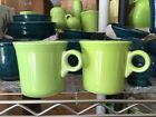 Lot of 2 Fiestaware Chartreuse Tom & Jerry Ring Mugs Retired Color made in USA