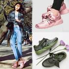 New Womens Bow Lace Up Flat Running Shoes Casual Athletic Sneakers Round Toe SZ