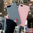 Ultra Slim Cute Polka Pattern Shockproof Hard Case Cover For iPhone 6 7 8 Plus X