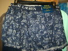 Polo Ralph Lauren ~ Stretch Slim Fit Woven Boxer ~ Large ~ Navy ~ Paisley ~ $28