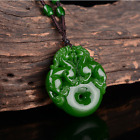Chinese Exquisite Natural jadeite Double face ancient beast carving Pendants