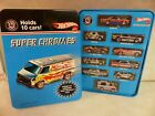 2007 Hot Wheels 40th Anniversary Super Chromes 10 Car Set Sealed in Tin Case