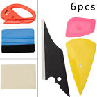 6PCS Car Film Wrap Application Vinyl Felt Squeegee Cutter Tool Set Plastic/Vinyl
