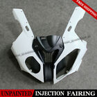 Unpainted White Front Upper Head Cowl Set Fairing Nose For BMW S1000RR 2009-2014