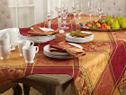 Multi Color Jacquard Design Holiday Thanksgiving Tablecloth and Napkins CHOOSE