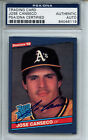 1986 Donruss #39 Jose Canseco PSA DNA Certified Authentic Auto (rookie card)