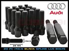 Audi Black Spline Drive Locking Lug Bolts M14x15 For Aftermarket Wheels 28mm
