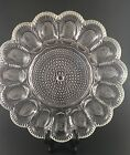Hobnail Deviled Egg Plate Indiana Clear Pressed Glass Crystal 15 Servings
