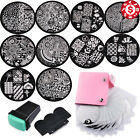 10 Plates Nail Art Kit Image Stamping Template Stamper Scraper Manicure Tool Set