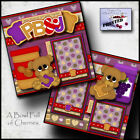PEANUT BUTTER  JELLY PBJ 2 Premade Scrapbook Pages paper printed BY CHERRY