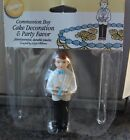 Communion Baptism Christening Cake Topper Boy with Bible