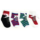 Wrapables Non Slip Silly Sneaker Socks for Baby Set of 4