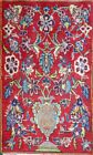 C 1920 Kashan Antique Persian Exquisite Hand Made Rug 1' 1