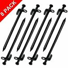 Tent Stakes Explomos Heavy duty Steel Solid Tent Stakes Pegs Pack of 8 118