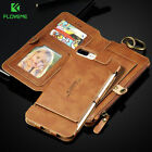 Genuine Leather Flip Wallet Phone Case Cover for Samsung Galaxy iPhone X 8 7 6s