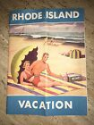 Vintage Rhode Island Vacation Travel Booklet Illustrated 1950s