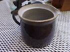 ANTIQUE BROWN STONEWARE JUICE PITCHER/CROCK PITCHER HANDLED WITH SPOUT