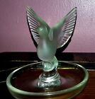 LALIQUE THALIE DOVE RING PIN TRAY