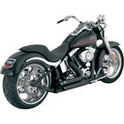 Vance  Hines Black Shortshots Staggered Exhaust for 1986 2011 Harley Softail