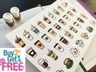 PP293 Iced Coffee Cups Life Planner Stickers for Erin Condren 34pcs