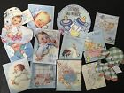 BB55 Lot of 13 Adorable Baby Boy Baby Shower DIE CUTS 4 crafts making