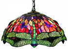 Tiffany Style Dragonfly Red Green Hanging Lamp