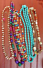Vintage Lot Necklaces Beads Chain Lucite and Stone