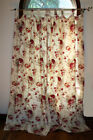 WAVERLY Garden Room Norfolk Rose Drapes / 2 Tab Top Panels 42 x 84