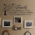 Vinyl Wall Decal Decor Family Quote Like Branches On A Tree On Walls Door Mirror