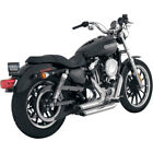 Vance  Hines Chrome Shortshots Staggered Exhaust for 2004 2013 Harley Sportster