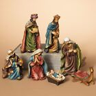 DELUXE HAND PAINTED 7 7 PIECE RESIN NATIVITY SET CHRISTMAS HOLIDAY DECOR