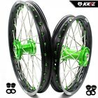 KKE 19/16 KID'S BIG WHEELS RIMS SET FIT KAWASAKI KX80 93-00 KX85 01-15 GREEN NIP