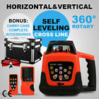 RED ROTARY LASER LEVEL SELF-LEVELING AUTOMATIC RED BEAM CROSS LINE ROTATING