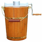 Portable 6 qt Electric Ice Cream Machine or Hand Crank Homemade Ice Cream Maker