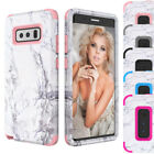 Chric Marble Pattern Hybrid Protective Cover Case Cute For Samsung Galaxy Note 8