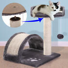Cat Tree Post Scratcher Furniture Play House Pet Bed Kitten Toy Gray New