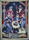 Crown Crafts Nativity Throw Blanket Afghan Baby Jesus Mary Joseph Wisemen Star