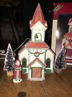 CHRISTMAS VILLAGE LEMAX HARVEST CROSSING PORCELAIN LIGHTED HOUSE CHURCH