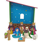 Holiday Time Christmas Nativity 9 Piece Figurine Set Clay Dough Children NEW