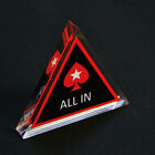 Brand New ALL IN Button Acrylic Triangle PokerStars Dealer for Poker Cards 2017