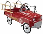 Vintage Pedal Car Antique Fire Truck Classic Toy Childrens Engine Kids Toddler