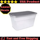 Plastic Storage Containers Clear 30 Gallon Moving Box Bin Lids Large Tote 6 Pack