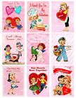 9 Valentine Vintage Retro Hang Tags ATC Scrapbooking Paper Crafts 204
