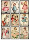 9 Valentine Vintage Victorian Hang Tags Scrapbooking Paper Crafts 211
